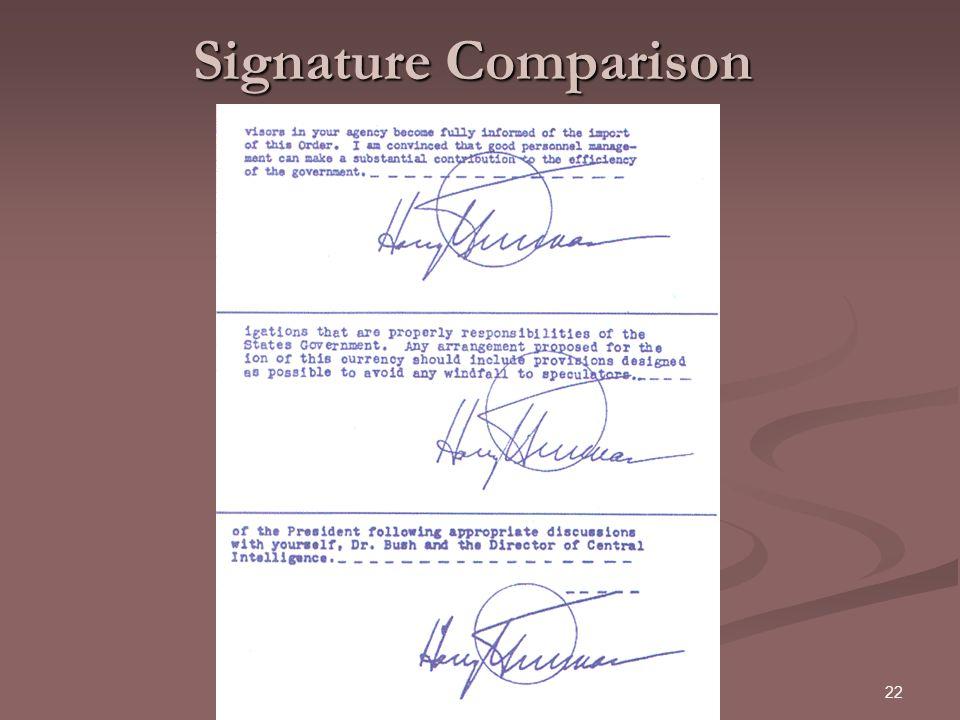 Signature Comparison