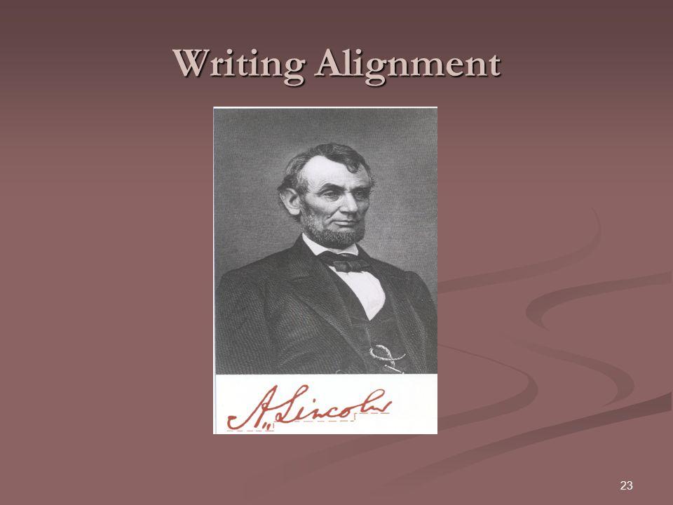 Writing Alignment