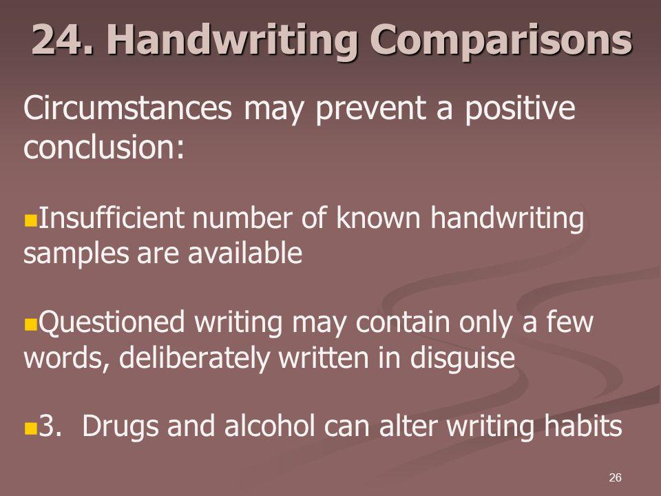 24. Handwriting Comparisons