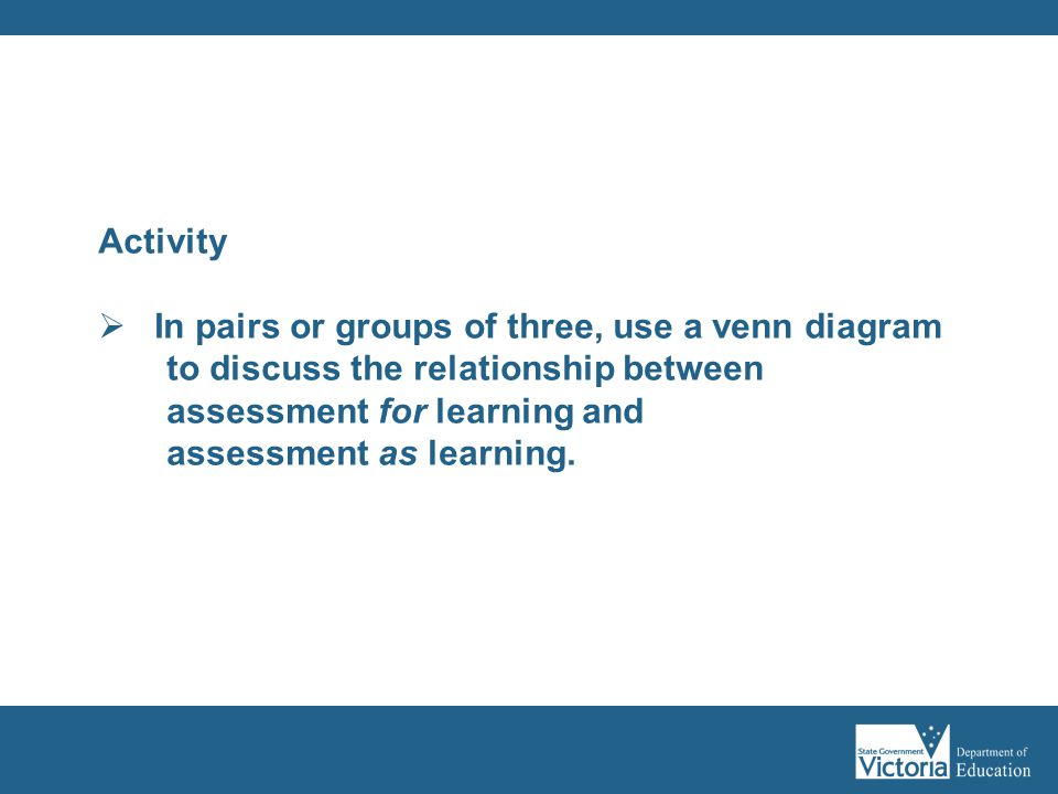 In pairs or groups of three, use a venn diagram