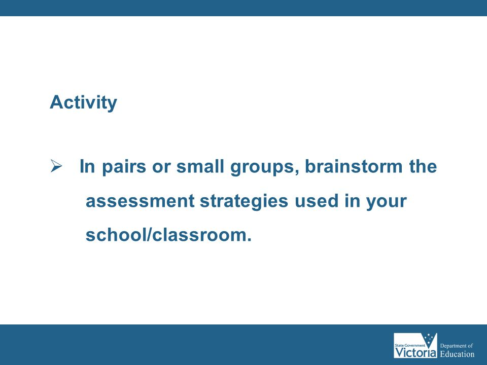 In pairs or small groups, brainstorm the