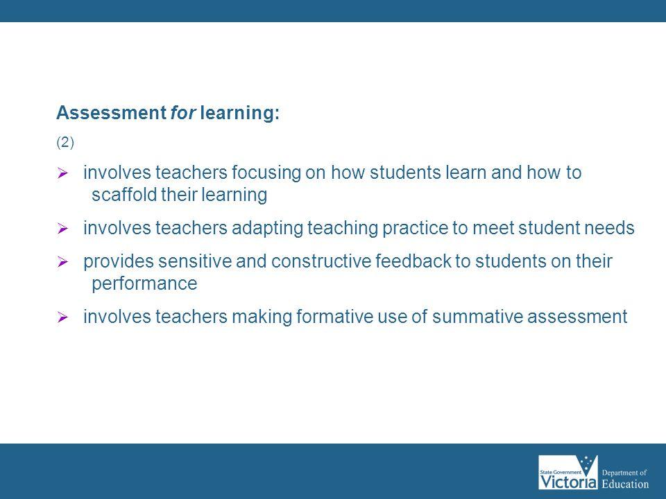 Assessment for learning: