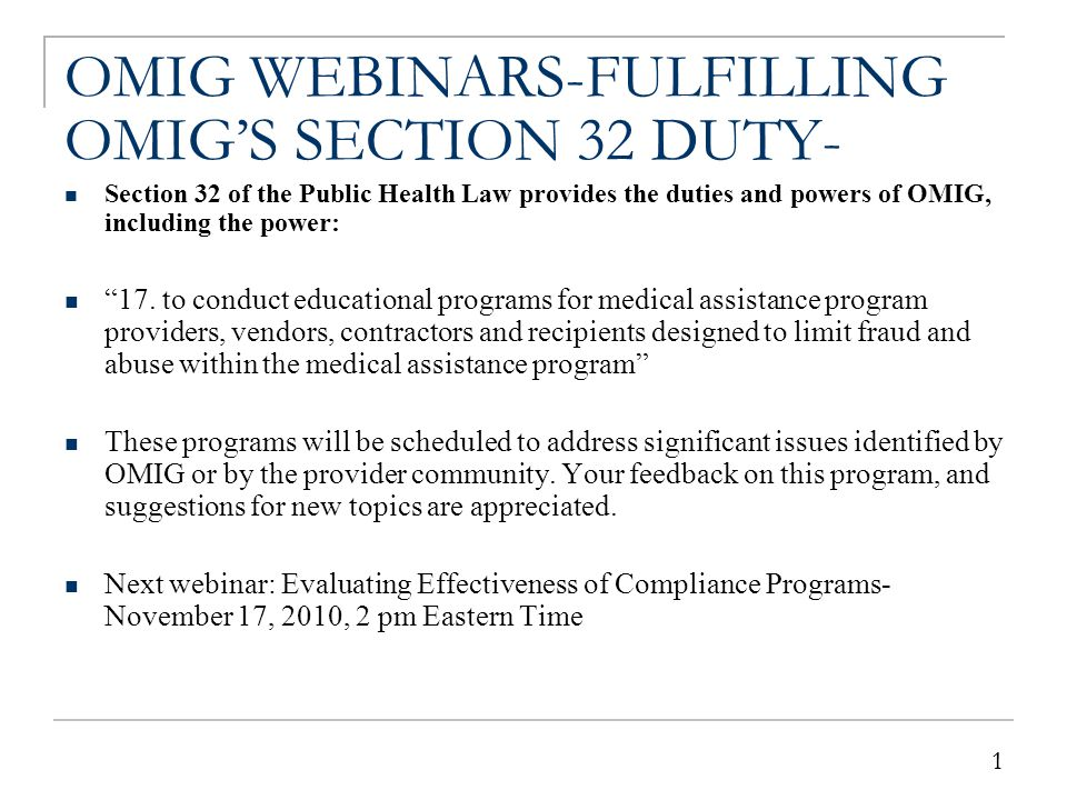 THIRD-PARTY RECOVERY-FULFILLING OMIG'S SECTION 22 DUTY-