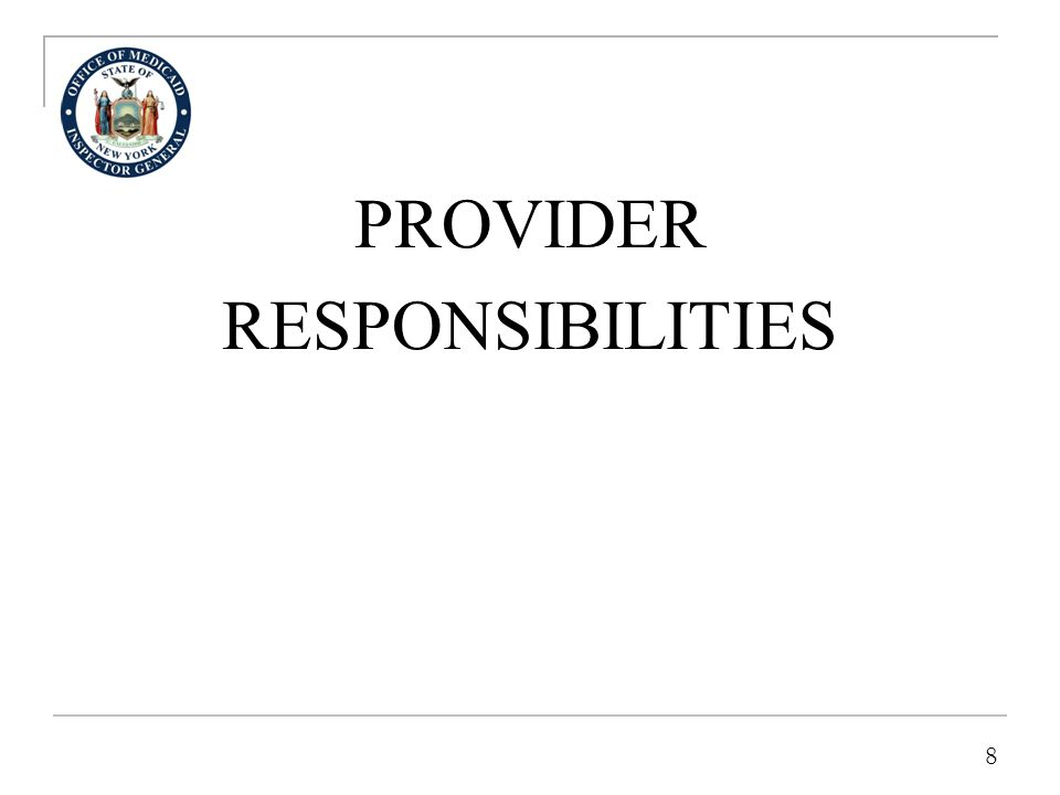 FIRST RESPONSIBILITY-TRUTH- TELLING FOR MEDICAID PROVIDER CLAIMANTS