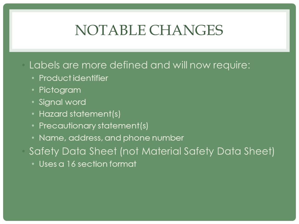 Notable Changes Labels are more defined and will now require: