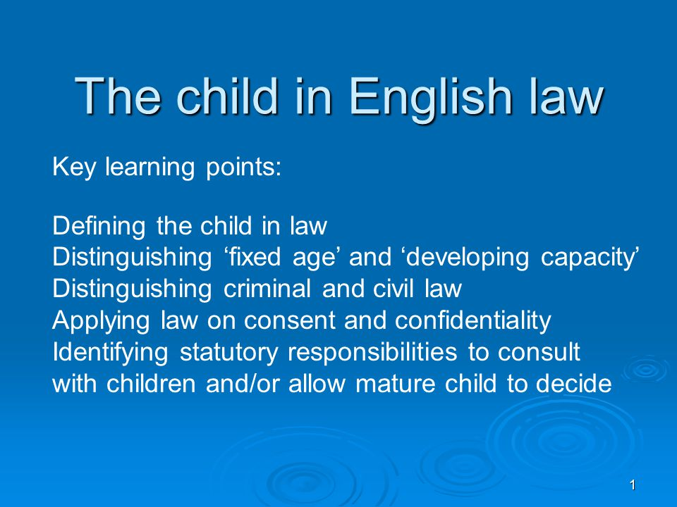 The child in English law