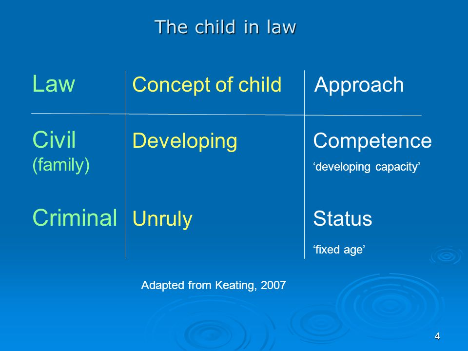 Law Concept of child Approach Civil Developing Competence