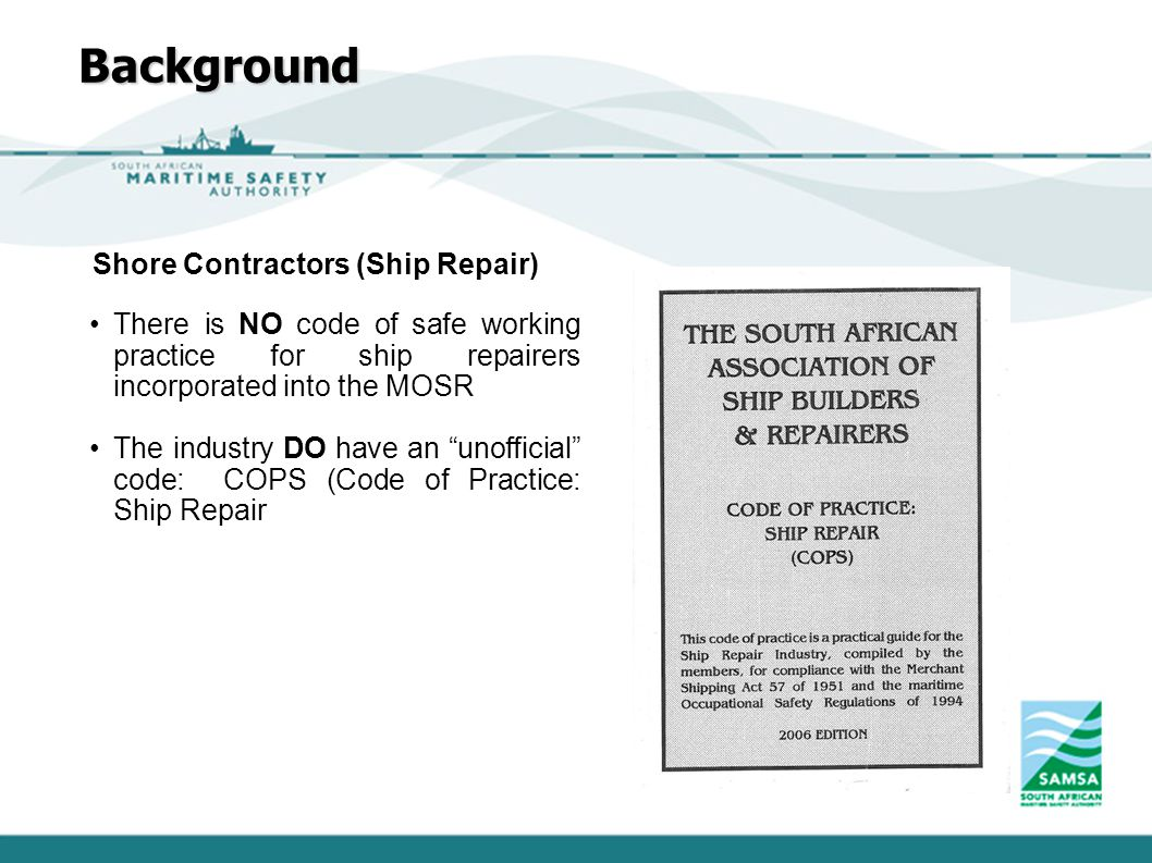 Background Shore Contractors (Ship Repair)