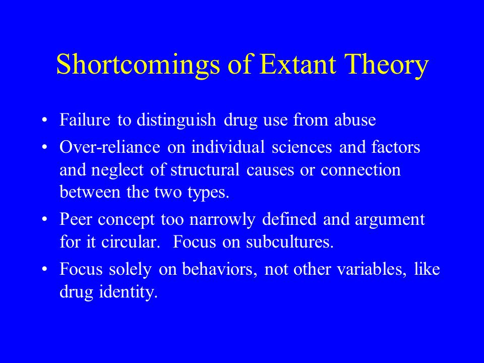 Shortcomings of Extant Theory