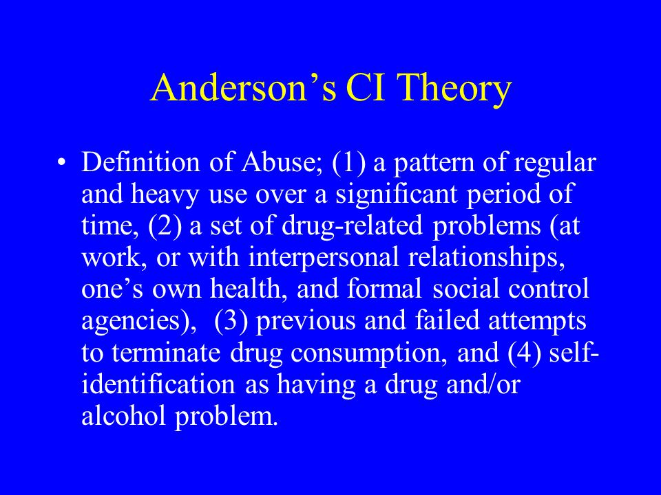 Anderson's CI Theory