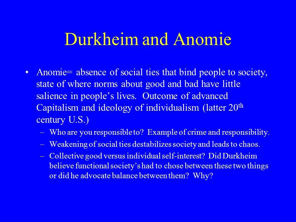 Durkheim and Anomie