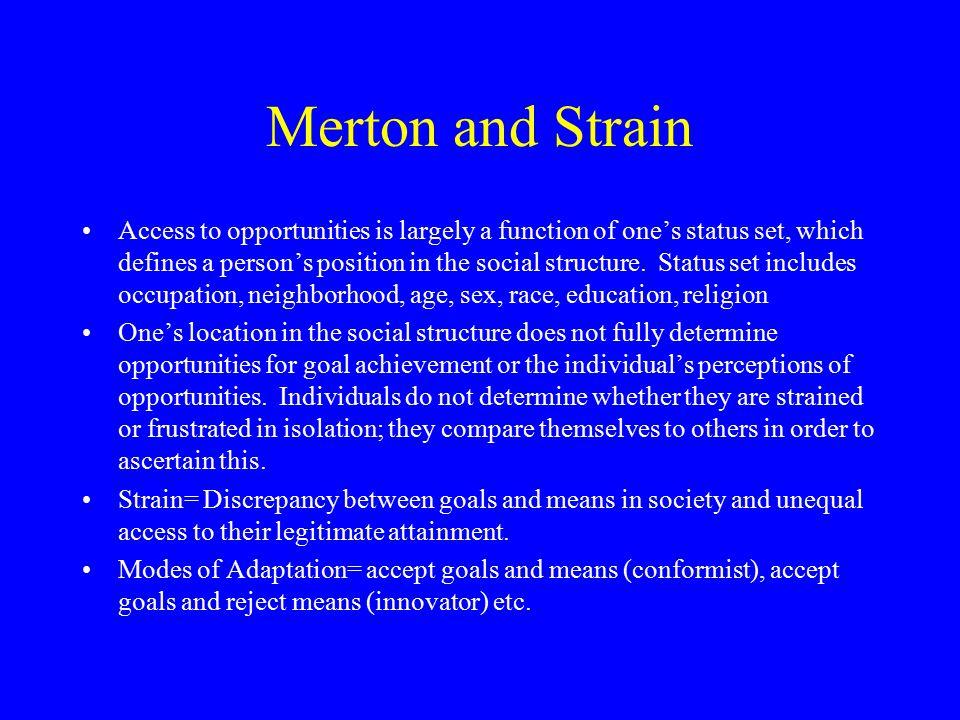 Merton and Strain