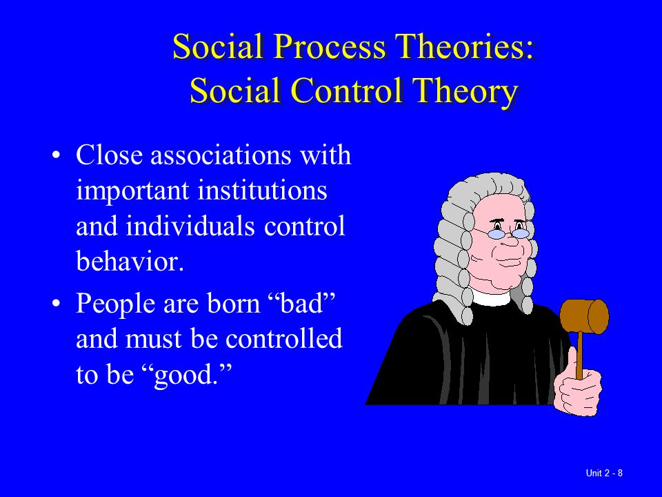 Social Process Theories: Social Control Theory
