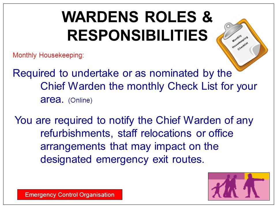 WARDENS ROLES & RESPONSIBILITIES