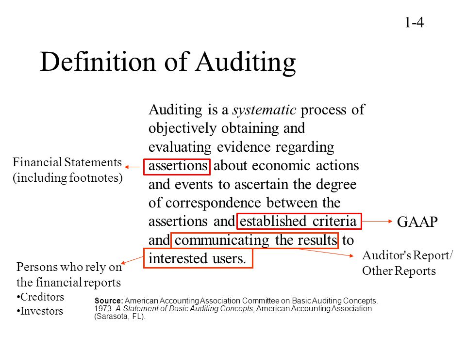 Definition of Auditing