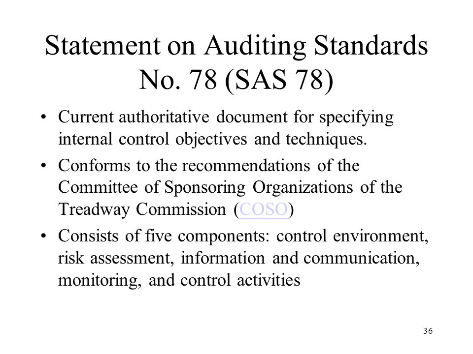 Statement on Auditing Standards No. 78 (SAS 78)