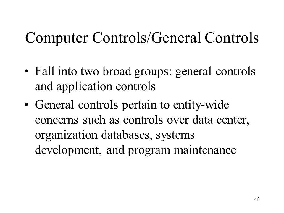 Computer Controls/General Controls