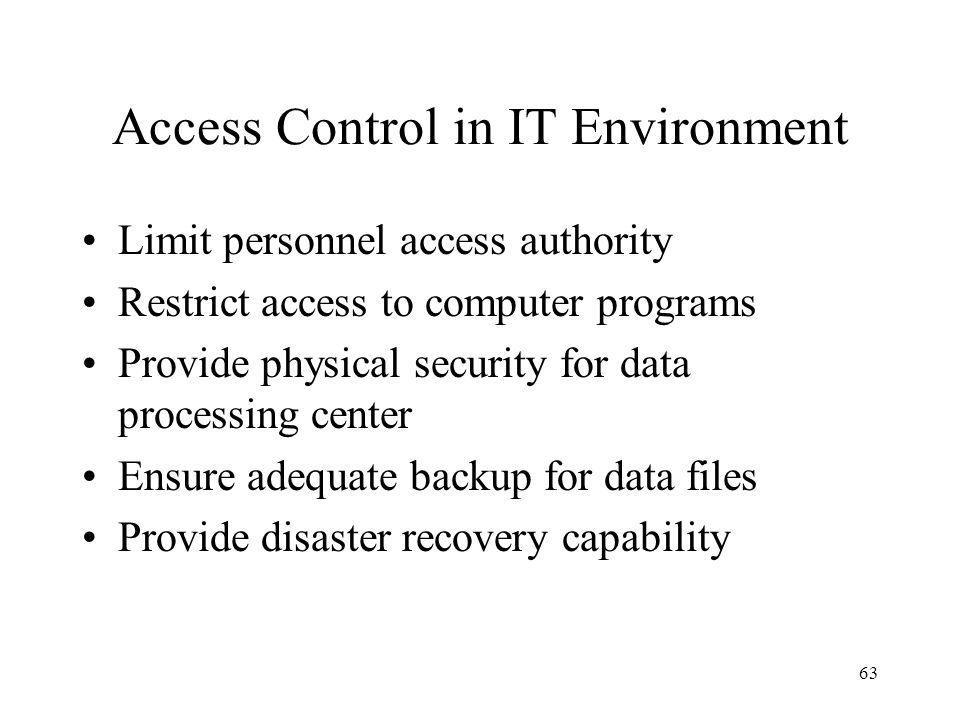 Access Control in IT Environment