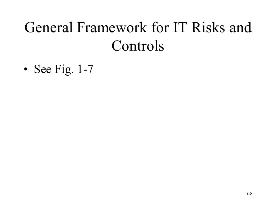 General Framework for IT Risks and Controls