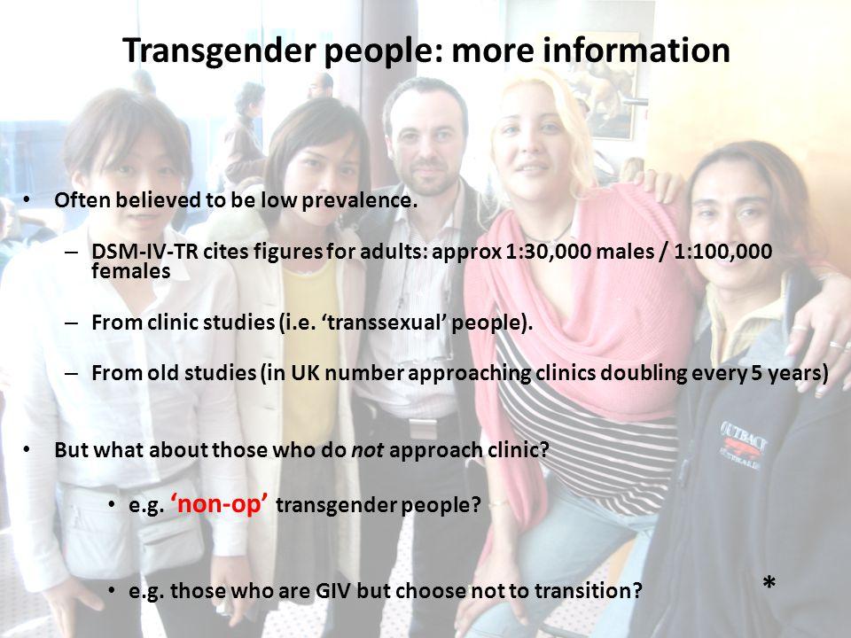 Transgender people: more information