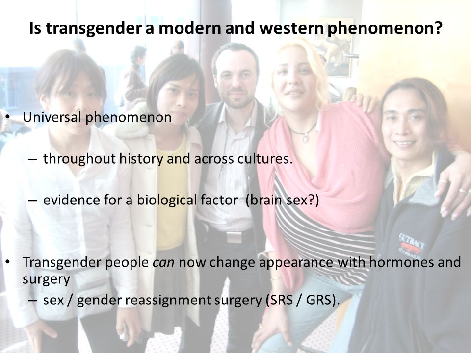 Is transgender a modern and western phenomenon