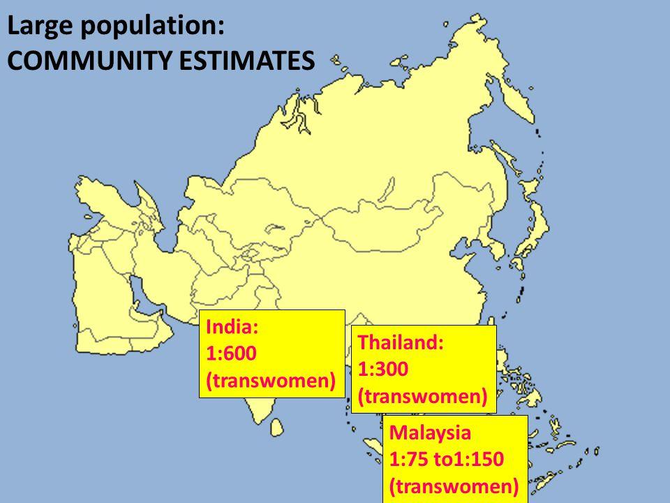 Large population: COMMUNITY ESTIMATES