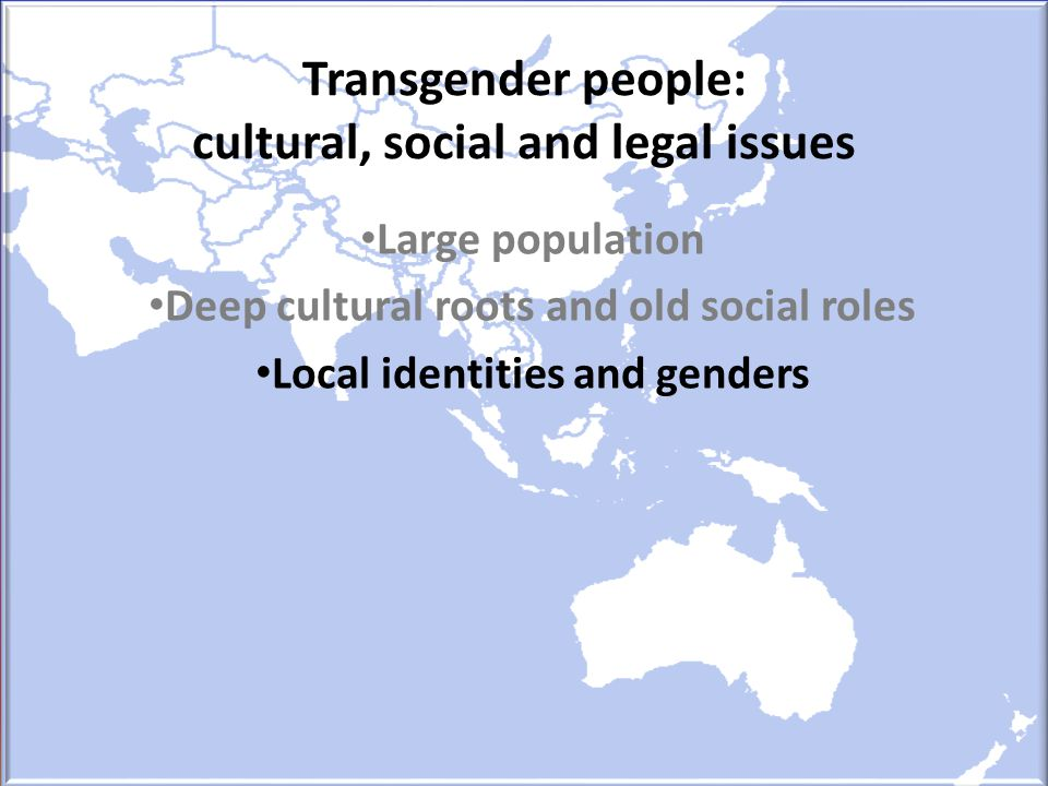 Transgender people: cultural, social and legal issues
