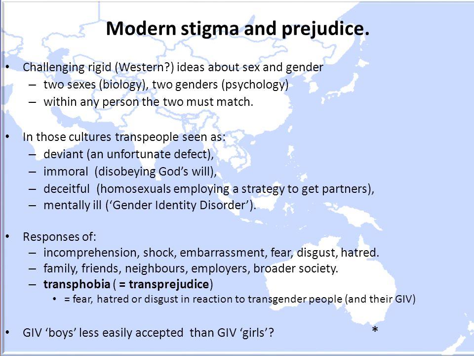 Modern stigma and prejudice.