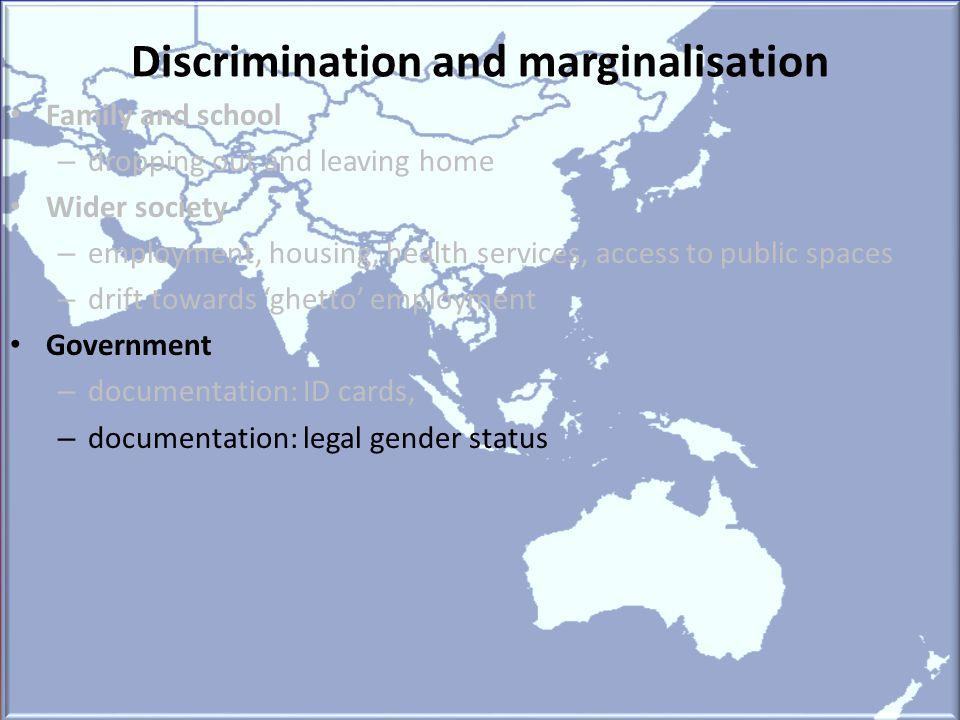 Discrimination and marginalisation