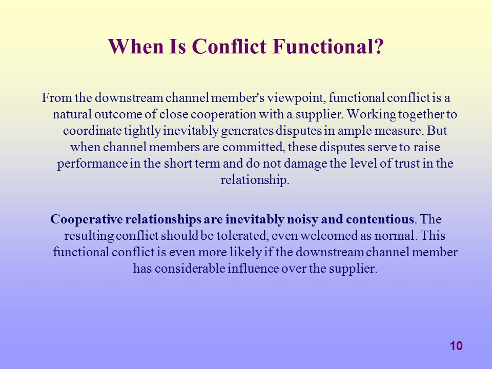 When Is Conflict Functional