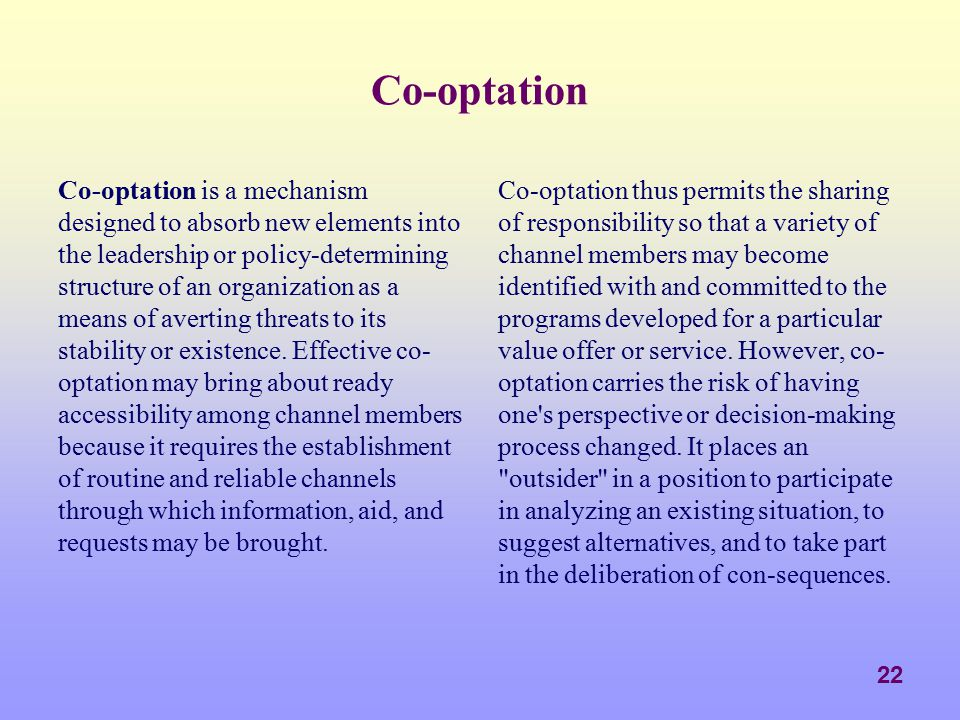 Co-optation