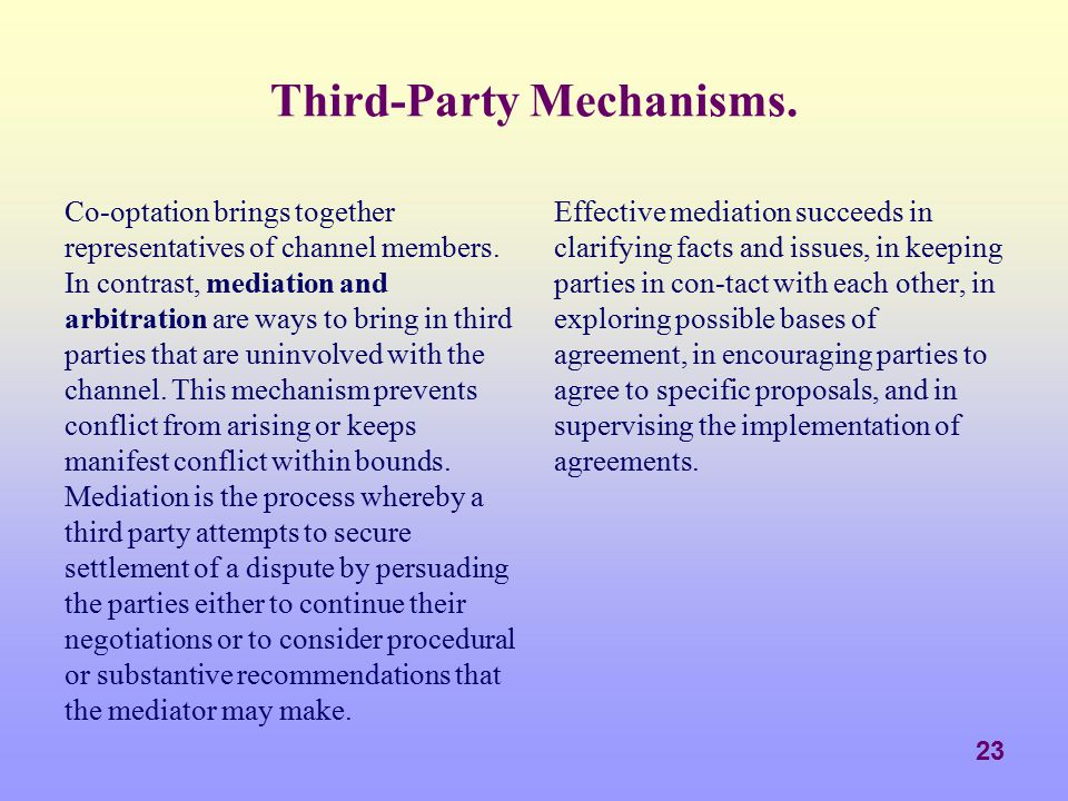 Third-Party Mechanisms.