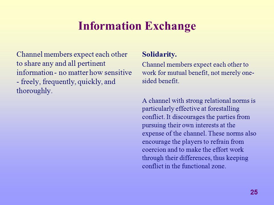 Information Exchange