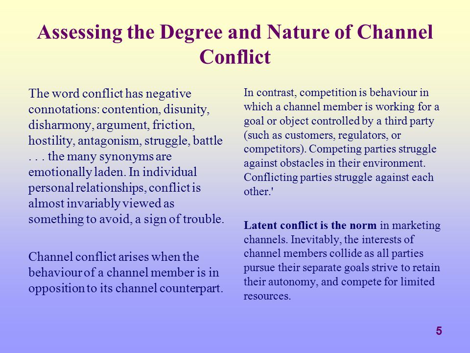 Assessing the Degree and Nature of Channel Conflict
