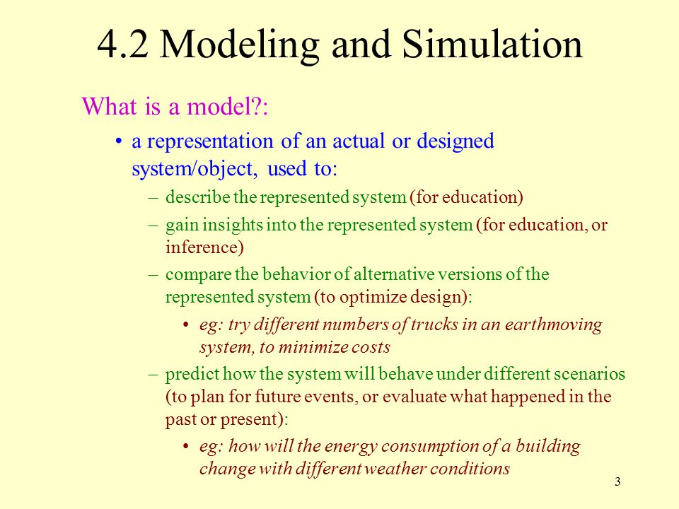 4.2 Modeling and Simulation