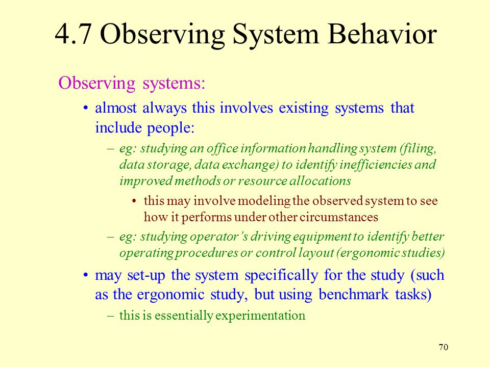 4.7 Observing System Behavior