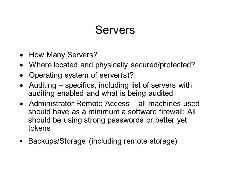 Servers · How Many Servers