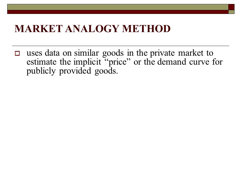MARKET ANALOGY METHOD