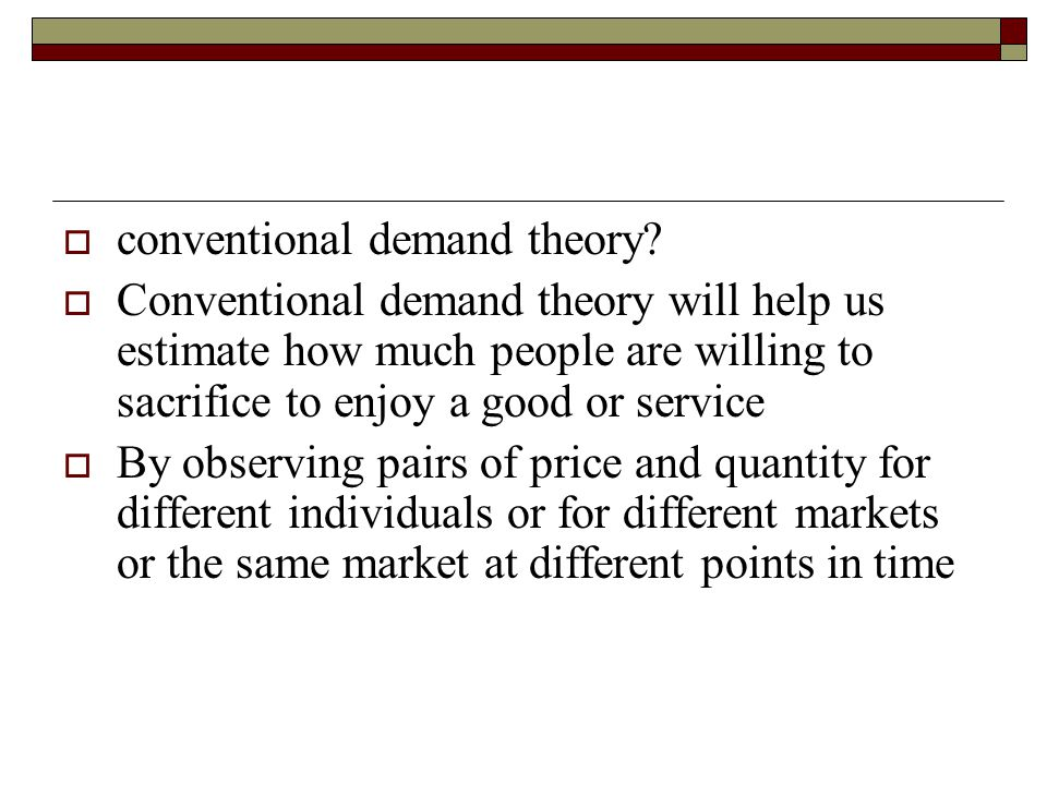 conventional demand theory