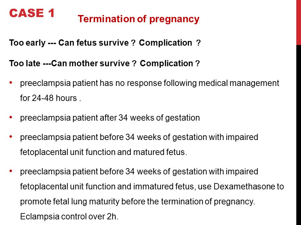 CASE 1 Termination of pregnancy