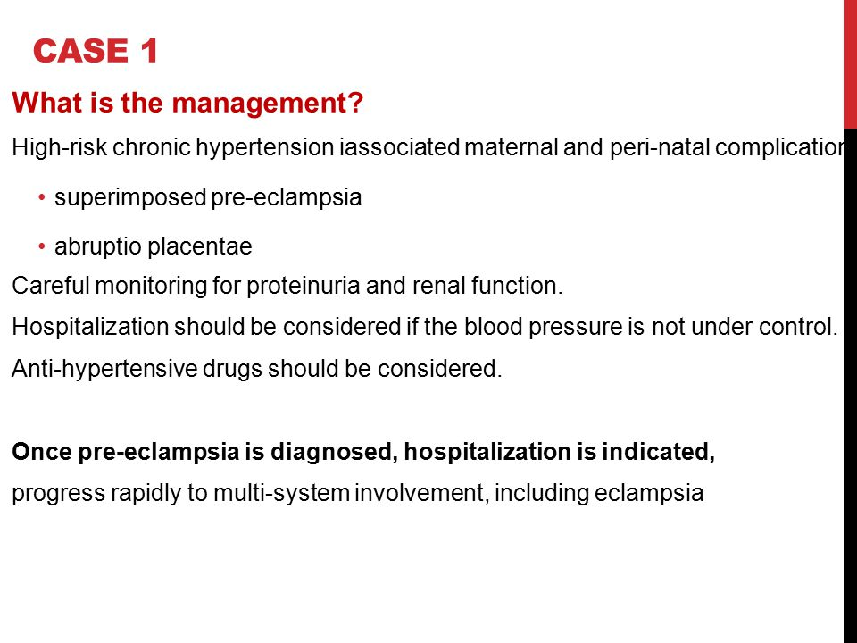 CASE 1 What is the management
