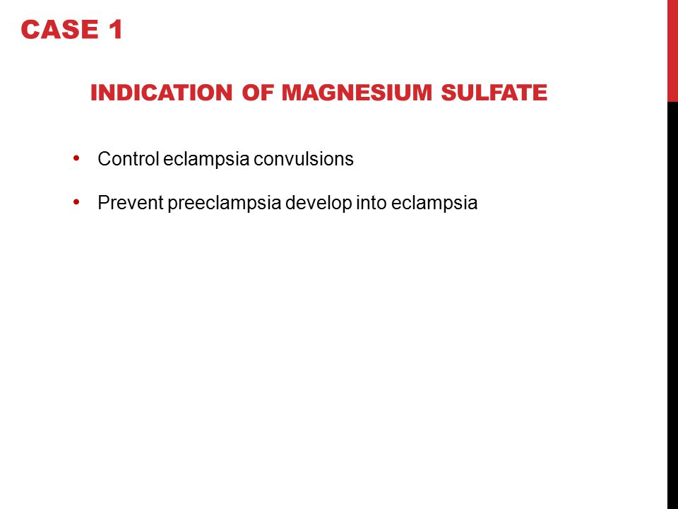 INDICATION OF MAGNESIUM SULFATE