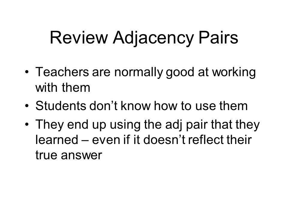 Review Adjacency Pairs