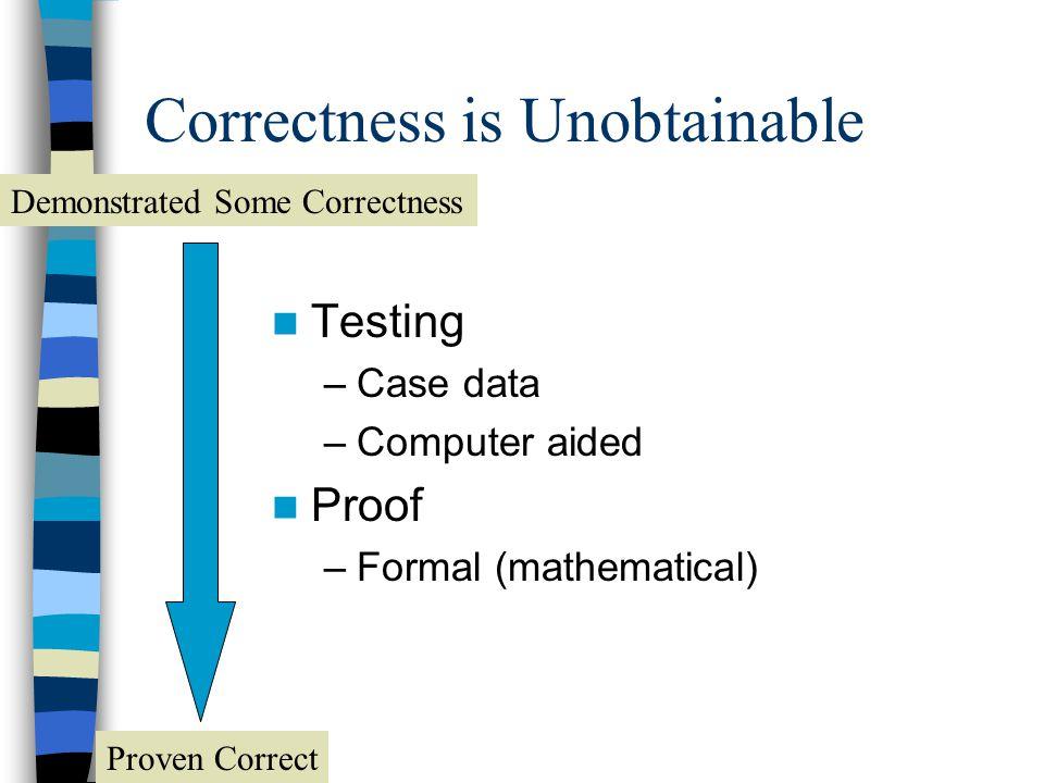 Correctness is Unobtainable