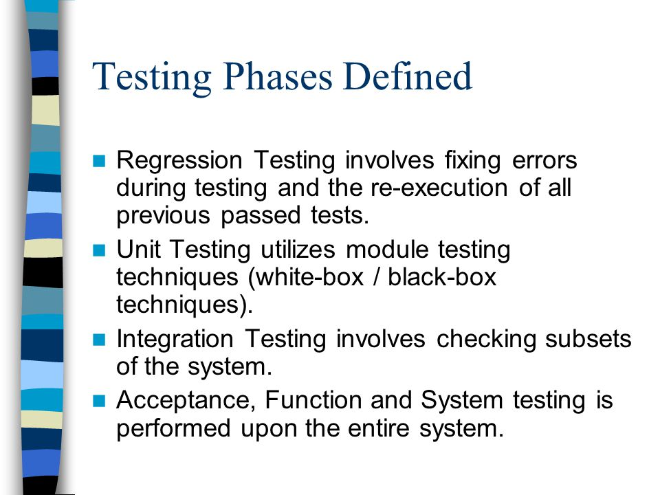 Testing Phases Defined