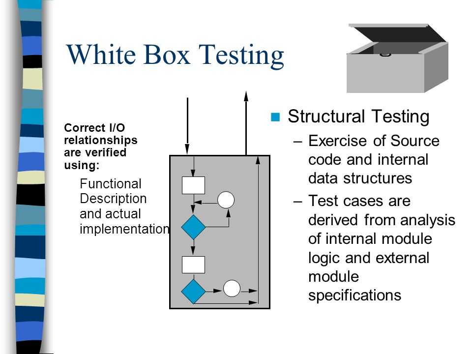 White Box Testing Structural Testing