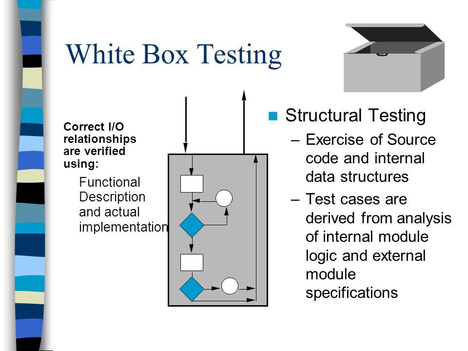White Box Testing Structural Testing