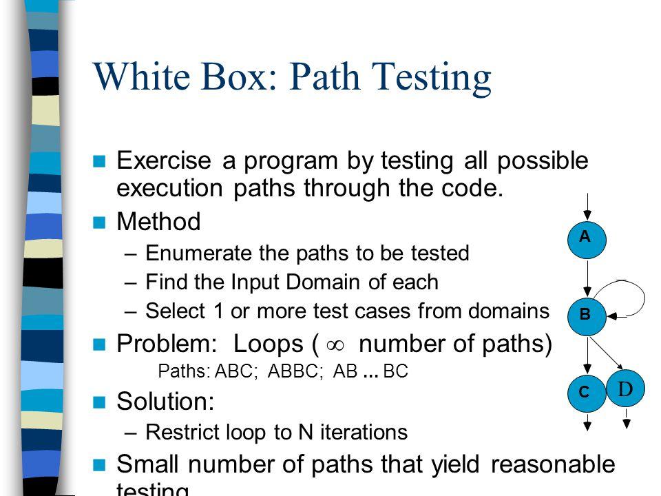 White Box: Path Testing