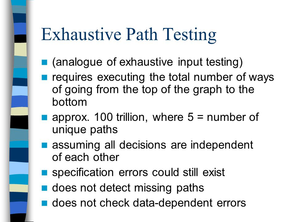 Exhaustive Path Testing