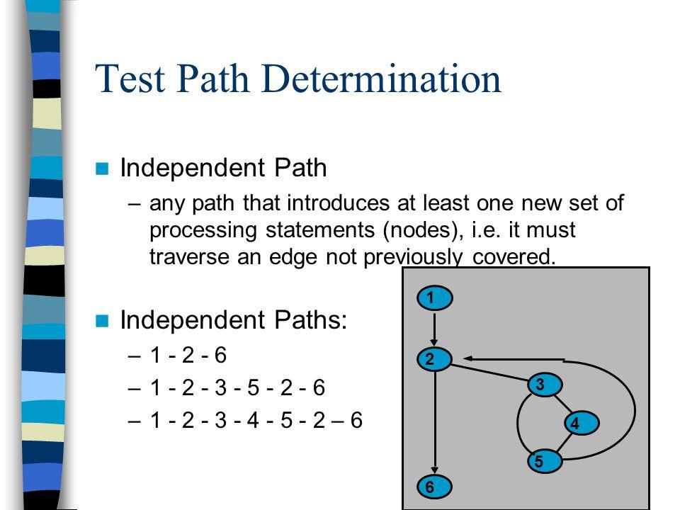 Test Path Determination